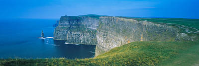 Burren Photograph - Rock Formations At The Coast, Cliffs Of by Panoramic Images