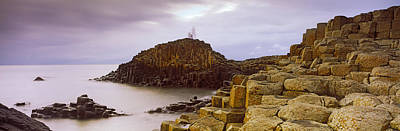 County Antrim Photograph - Rock Formations At The Coast, Giants by Panoramic Images