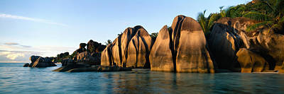 Rock Formations At The Waterfront, Anse Art Print by Panoramic Images