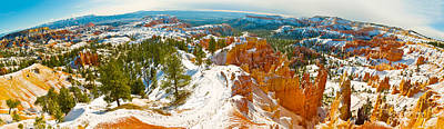 Rock Formations In A Canyon, Bryce Print by Panoramic Images
