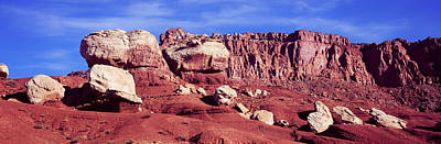 Capitol Reef National Photograph - Rock Formations In Capitol Reef by Panoramic Images