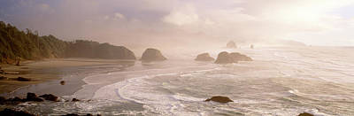 Rock Formations In The Ocean, Ecola Art Print by Panoramic Images