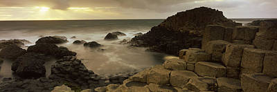 County Antrim Photograph - Rock Formations In The Sea, Giants by Panoramic Images