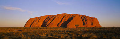 Uluru Photograph - Rock Formations On A Landscape, Ayers by Panoramic Images