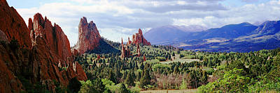 Garden Of The Gods Photograph - Rock Formations On A Landscape, Garden by Panoramic Images
