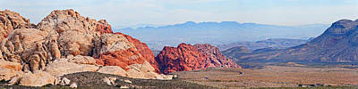 Bureau Land Management Photograph - Rock Formations On A Landscape, Red by Panoramic Images