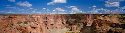Clouds Over Canyon Photograph - Rock Formations On A Landscape, South by Panoramic Images