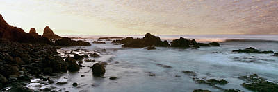 Roca Photograph - Rock Formations On Beach At Sunrise by Panoramic Images