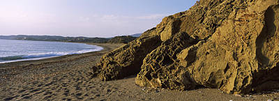 Rock Formations On The Beach, Chios Print by Panoramic Images