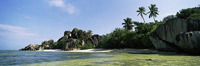 Rock Formations On The Coast, Anse Print by Panoramic Images