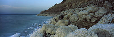 Jordan Photograph - Rock Formations On The Coast, Arabah by Panoramic Images