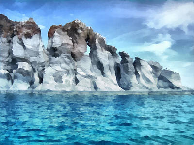 Digital Art - Rock Formations Sea Of Cortez by Ann Powell