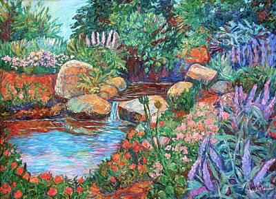 Rock Garden Art Print by Kendall Kessler