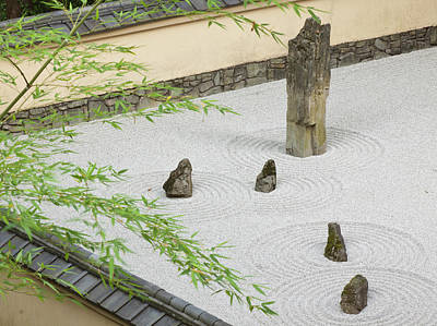 Rock Garden, Portland Japanese Garden Art Print by William Sutton