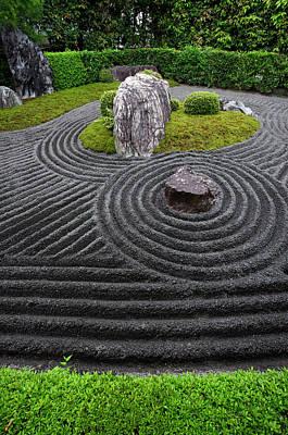 Photograph - Rock Garden, Taizo-in Temple by Damien Douxchamps