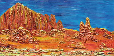 Rock Grove Print by Marcia Weller-Wenbert