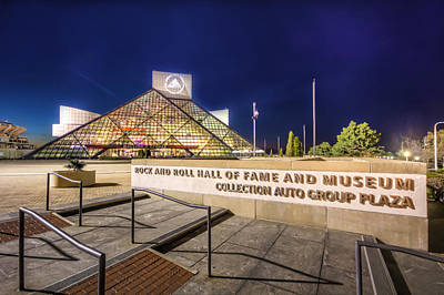 Rock Hall Plaza Art Print by Brent Durken