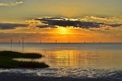Photograph - Rock Harbor Sunset 2 by Allen Beatty