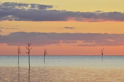 Photograph - Rock Harbor Sunset 4 by Allen Beatty