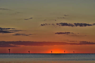 Photograph - Rock Harbor Sunset 6 by Allen Beatty