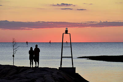Photograph - Rock Harbor Sunset 7 by Allen Beatty