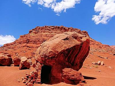 Hot Boulders Photograph - Rock House In Arizona by Dan Sproul