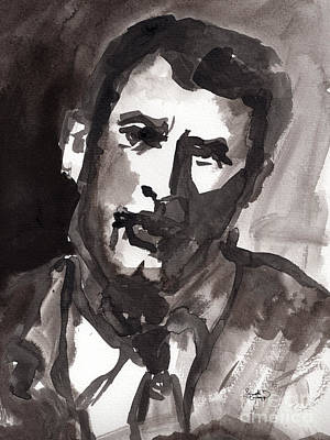 Rock Hudson Watercolor Sketch Art Print by Ginette Callaway