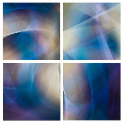 Light Photograph - Rock Lightpaintings - Rainbow Fluorite I - Quad by Dave Markman