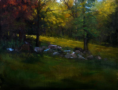 Schmid Painting - Rock Line by William Worcester
