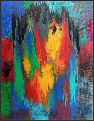 Resin Painting - Personal Jesus by Jane Biven