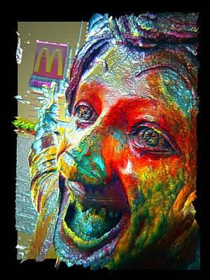 Digital Art - Rock N Roll Clown by Zac AlleyWalker Lowing