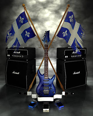 Digital Art - Rock N Roll Crest - Quebec by Frederico Borges