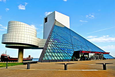 Rock N Roll Hall Of Fame Art Print by Frozen in Time Fine Art Photography