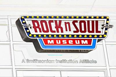 Digital Art - Rock N Soul Museum Memphis by Liz Leyden