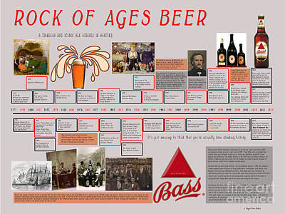 Mixed Media - Rock Of Ages Bass Beer Timeline by Megan Dirsa-DuBois
