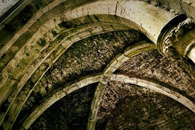 Photograph - Nave Ceiling And Arch - Rock Of Cashel by Nadalyn Larsen