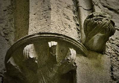 Photograph - Column Heads And Corbels - Rock Of Cashel by Nadalyn Larsen