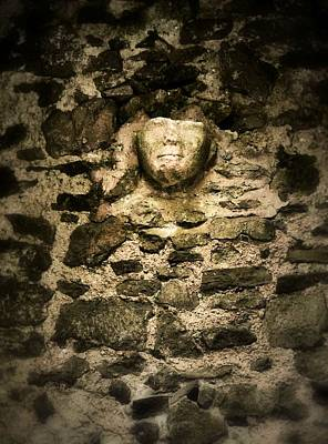 Photograph - The Face In The Wall - Rock Of Cashel by Nadalyn Larsen