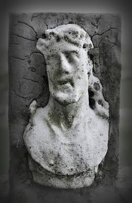 Photograph - The Face Of Jesus - Cashel Cemetery by Nadalyn Larsen
