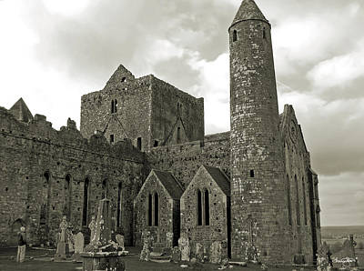 Photograph - Rock Of Cashel- Antique Black And White by Shanna Hyatt