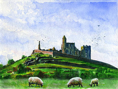 Painting - Rock Of Cashel Ireland by John D Benson