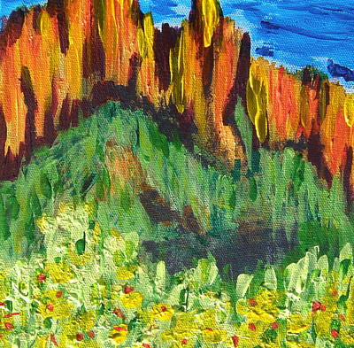 Rock Of Many Colors Art Print by Marcia Weller-Wenbert