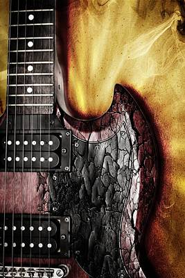 Epiphone Guitars Photograph - Rock On Gibson  by Aaron Berg