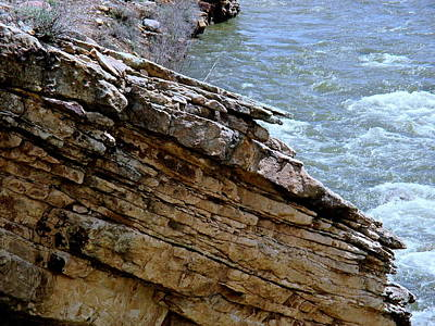 Photograph - Rock Outcrop Piedra River by Jeff Gater
