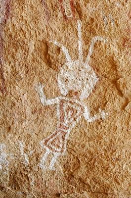 Sahara Photograph - Rock Painting, Algerian Sahara by Science Photo Library