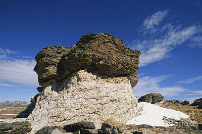 Photograph - Rock Pedestal In Colorado by Gregory G. Dimijian, M.D.