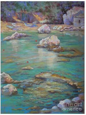 Painting - Rock Pool At The Demouchari Pelion Greece by Heather Harman
