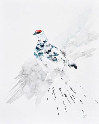 Painting - Rock Ptarmigan by Zaira Dzhaubaeva