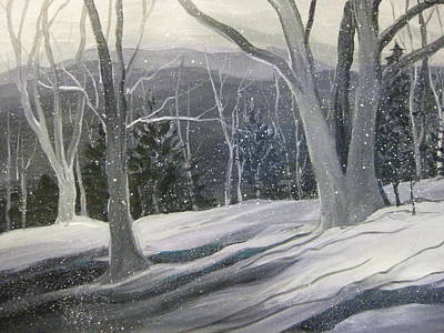 Rock Ridge Snowscene Art Print