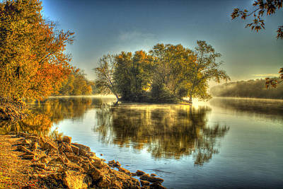 Photograph - Rock River Fall Morning by Roger Passman